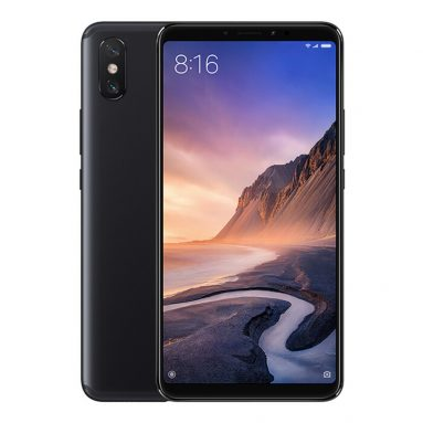 €213 with coupon for Xiaomi Mi Max 3 Global Version 4GB RAM 64GB ROM Smartphone – Black from BANGGOOD