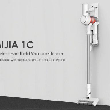 € 212 uz kupon za Xiaomi Mijia 1C punjivi ručni bežični usisavač za usisavanje stick NEMAČKA Skladište od TOMTOP