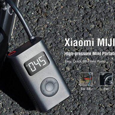 € 44 avec coupon pour Xiaomi MIJIA Vélo Pompe Haute Pression de GEARBEST