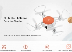 €57 with coupon for Xiaomi MITU WiFi FPV 720P HD Camera Mini RC Drone – BNF – WHITE from GearBest