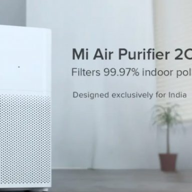 € 98 med kupong for Xiaomi MIjia luftrenser 2C 360 ° sug med CADR på 350m3 / h Virkelig luftkvalitetsindikator fra EU CZ Warehouse BANGGOOD