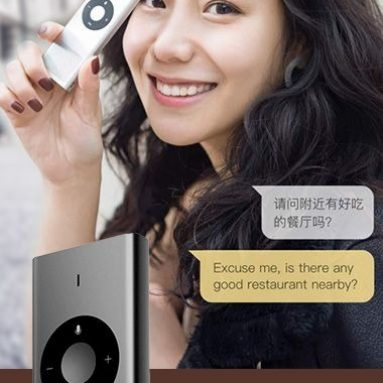 $38 with coupon for MY001CN Portable AI Translator 14 Languages from Xiaomi Youpin from GearBest