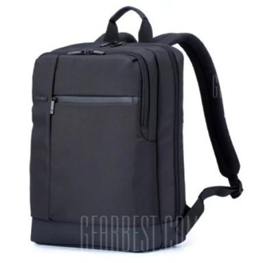 $27 with coupon for Xiaomi Men Classical Business Laptop Backpack  –  BLACK from GearBest