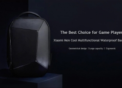 $76 with coupon for Xiaomi Geometric Splicing Reflective Water-resistant Backpack from GearBest