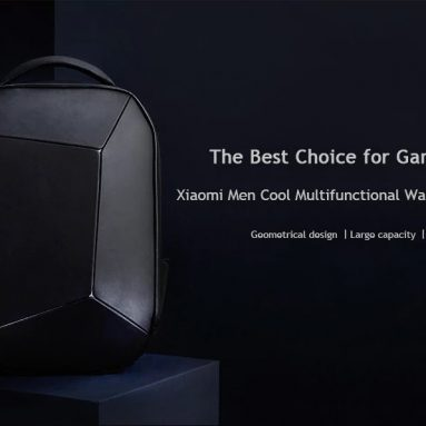 $109 with coupon for Xiaomi Geometric Splicing Reflective Water-resistant Backpack from GearBest