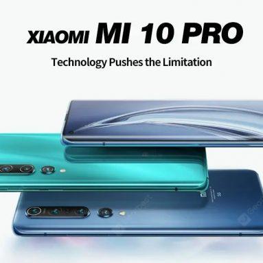 $ 859 με κουπόνι για το Xiaomi Mi 10 Pro 6.67 ιντσών 5G 8 + 256GB Smartphone Global Version Λευκό / Μπλε από GEARBEST