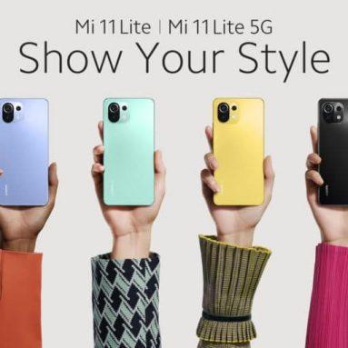 272 євро з купоном на Xiaomi Mi 11 Lite 4G Глобальна версія 64-мегапіксельна потрійна камера 6 ГБ оперативної пам'яті 128 ГБ ПЗУ 6.55-дюймовий AMOLED-дисплей Snapdragon 732G Смартфон від BANGGOOD