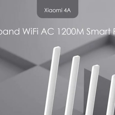 $16 with coupon for Xiaomi Mi 4A Dual Band Router AC 1200M 16MB ROM 64MB RAM from GEARVITA