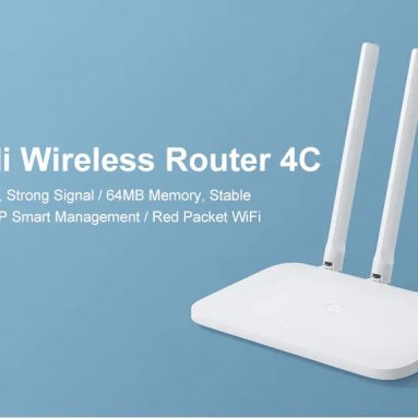 $27 with coupon for Original Xiaomi Mi 4C Wireless Router 2.4GHz / 300Mbps / Four Antennas from GearBest
