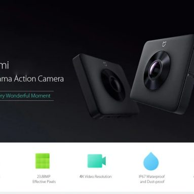 $208 with coupon for Xiaomi Mi 4K Sphere Panorama Action Camera from GEARVITA