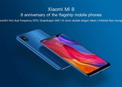 €284 with coupon for Xiaomi Mi8 Mi 8 Global Version 6GB RAM 64GB ROM Smartphone BLUE from BANGGOOD