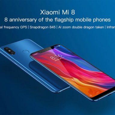 € 214 עם קופון לדליל לתחילת גלריית התמונות Xiaomi Mi 8 4G Smartphone 6GB RAM 64GB ROM גרסה גלובלית כחול מבית GEARVITA