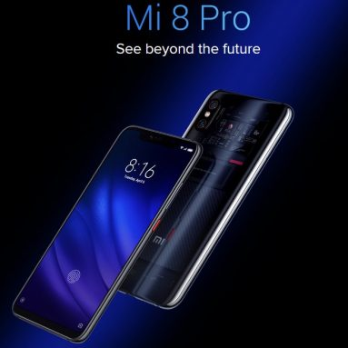 $325 with coupon for Xiaomi Mi 8 Pro 4G Smartphone 8GB RAM 128GB ROM Global Version from GEARVITA