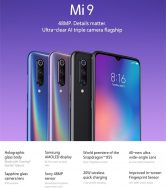 €324 with coupon for Xiaomi Mi9 Mi 9 Global Version 6.39 inch 48MP Triple Rear Camera NFC 6GB 64GB Snapdragon 855 Octa core 4G Smartphone – Blue from BANGGOOD