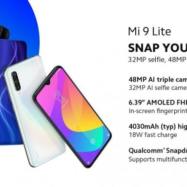 €196 with coupon for Xiaomi Mi9 Mi 9 Lite Global Version 6.39 inch 48MP Triple Rear Camera NFC 6GB 128GB 4030mAh Snapdragon 710 Octa core 4G Smartphone – Onyx Grey from BANGGOOD