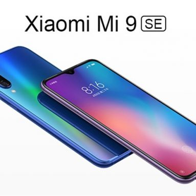 €225 with coupon for Xiaomi Mi9 Mi 9 SE Global Version 5.97 inch 48MP Triple Rear Camera NFC 6GB 64GB Snapdragon 712 Octa core 4G Smartphone from BANGGOOD