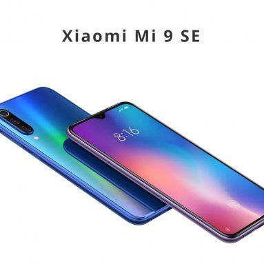 $ 389 với phiếu giảm giá dành cho điện thoại thông minh Xiaomi Mi 9 SE 5.97 Inch 4G LTE Snapdragon 712 6GB 64GB