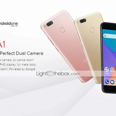 $164 with coupon for Xiaomi Mi A1 MiA1 Global Version 5.5 inch 4GB RAM 64GB ROM Gold from Banggood