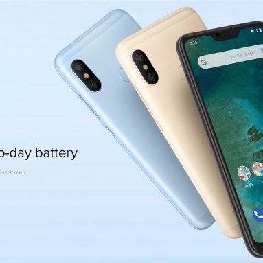 €138 with coupon for Xiaomi Mi A2 Lite Global Version 4GB RAM 64GB ROM Smartphone from BANGGOOD