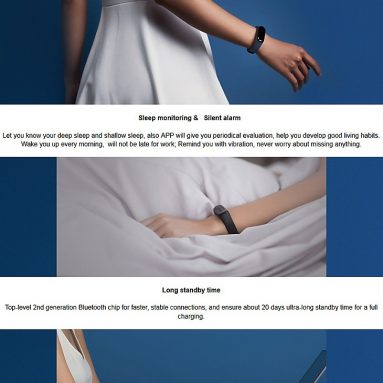 """$32 with coupon for Xiaomi Mi Band 3 Miband 3 Fitness Tracker Heart Rate Monitor 0.78"""" from Lightinthebox"""
