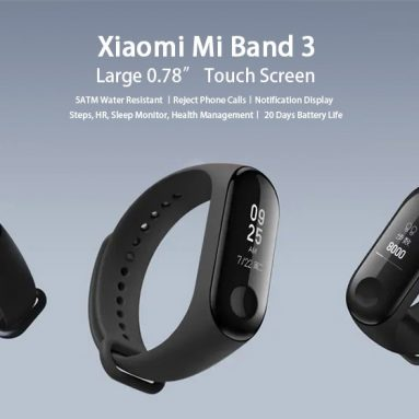 $14 with coupon for Xiaomi Mi Band 3 Smart Bracelet Wristband (Global Version) from GEARVITA