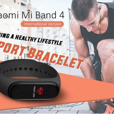 $ 28 s kupónom pre Xiaomi Mi Band 4 Smart Bracelet International Version od GEARBEST