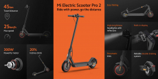 AB deposundan Xiaomi Mi Electric Scooter Pro 375 Global için kuponlu € 2 (Xiaomi band 5'i Ücretsiz Edinin) GSHOPPER