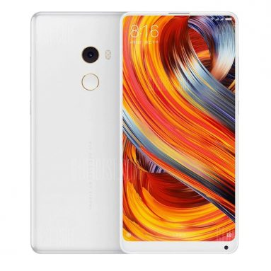 $ 629 avec coupon pour Xiaomi Mi MIX 2 4G Phablet Full Unibody en céramique - VERSION GLOBALE BLANC de GearBest
