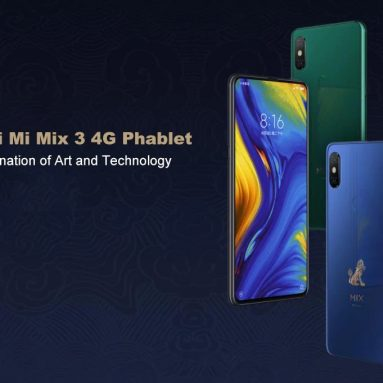 $349 with coupon for Xiaomi Mi Mix 3 4G Smartphone 6GB RAM 128GB ROM Global Version from GEARVITA