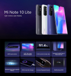Xiaomi Mi Note 270 Lite 글로벌 버전 10 인치 6.47GB 6GB 128MP 쿼드 카메라 64mAh NFC Snapdragon 5260G 730G 스마트 폰
