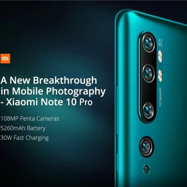€499 with coupon for Xiaomi Mi Note 10 Pro 108MP Penta Camera Mobile Phone Global Version Online Smartphone – Black from GEARBEST