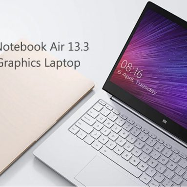 €657 with coupon for Xiaomi Mi Notebook Air 13.3 Laptop Fingerprint Recognition Integrated Graphics from GearBest