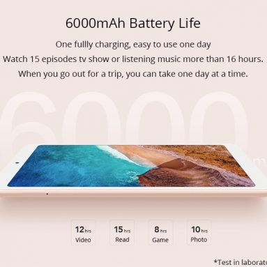 €260 with coupon for Xiaomi Mi Pad 4 4G FDD-LTE Phablet 4GB DDR4 64GB eMMC MIUI 9 Gold from Geekbuying
