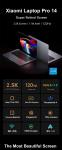 € 852 med kupong for Xiaomi Mi Pro 14 bærbar PC 14.0 tommer 2.5K 100% sRGB 120Hz Oppdateringsfrekvens 88% forholdskjerm Intel Core i7-11370H NVIDIA GeForce MX450 16G RAM 3200MHz 512G PCIe SSD WiFi 6 Thunderport 4 Baclilght Fingeravtrykk-notatbok fra BANGGOOD