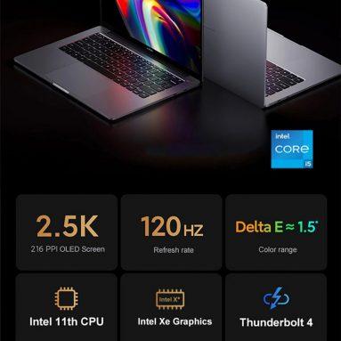 € Xiaomi Mi Pro 976 Laptop için kuponlu 14 € 14.0 inç 2.5K% 100 sRGB 120Hz Yenileme Oranı 88% Oran Ekran Intel Core i5-11300H NVIDIA GeForce MX450 16G RAM 3200MHz 512G PCIe SSD WiFi 6 Thunderport 4 Baclilght Parmak İzi Kameralı Dizüstü Bilgisayar BANGGOOD'dan