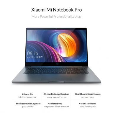 €893 with coupon for Xiaomi Mi Notebook Pro 2019 15.6 inch Laptop 8GB RAM 256GB – Gray from GEARBEST