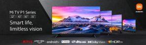 """€385 dengan kupon untuk Xiaomi Mi P1 TV 43"""" Layar UHD 4K Tanpa Batas MEMC Pemasangan dinding bebas genggam Android TV™ 10 Dolby Vision® dari gudang EU ES GSHOPPER"""