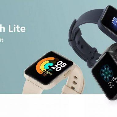 """€ 34 com cupom para Xiaomi Mi Watch Lite GPS Mi Smart Watch Versão Global Smartwatch 2020 TFT LCD TFT de 1.4 """"Faixa de Monitor de Ritmo Cardíaco de Sono do armazém da UE GSHOPPER (somente para ES e PT)"""