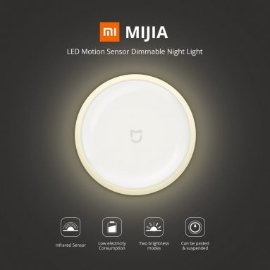 €7 with coupon for Xiaomi MiJIA MJYD01YL LED Smart Infrared Human Body Motion Sensor Dimmable Night Light For Home – 10pcs from BANGGOOD