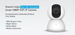 $ 25 con coupon per Xiaomi Mijia 1080P Home Panoramica WiFi IP Camera di GEARVITA