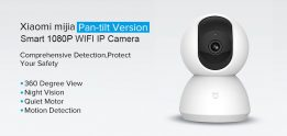 $25 with coupon for Xiaomi Mijia 1080P Home Panoramic WiFi IP Camera from GEARVITA