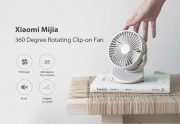 $19 with coupon for Xiaomi Mijia 360 Degree Rotating Fan – Blue Ivy from GEARBEST
