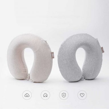 $9 with coupon for Xiaomi Mijia 8H U Shape Memory Foam Neck Pillow Antibacterial Portable Travel 8H Eyes Mask Cushion Lunch Break Pillows from ALIEXPRESS