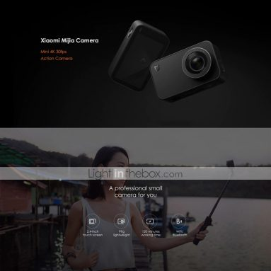 $86 with coupon for Xiaomi® Mijia Camera Mini 4K 30fps Action Camera Global Version from LIGHTINTHEBOX