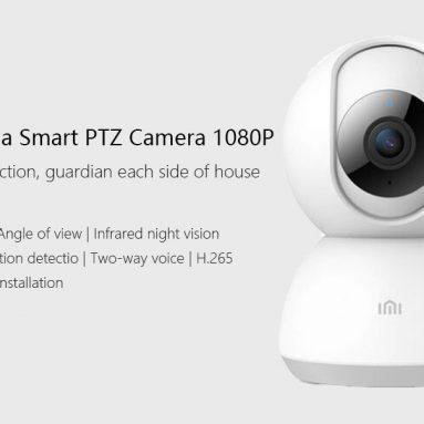 € 31 với phiếu giảm giá cho Xiaomi Mijia Chuangmi 1080P EU Cắm tăng cường tầm nhìn ban đêm H.265 360 ° PTZ Camera WIFI thông minh từ BANGGOOD