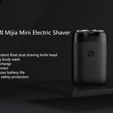 $ 14 với phiếu giảm giá cho Máy cạo râu kép Xiaomi Mijia Máy cạo râu điện Type-C IPX7 Máy cạo râu im lặng khô không thấm nước dành cho nam từ BANGGOOD