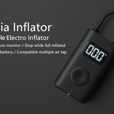 €36 with coupon for Xiaomi Mijia MJCQ01QJ Digital Tire Electric Inflator Pump from GEARBEST