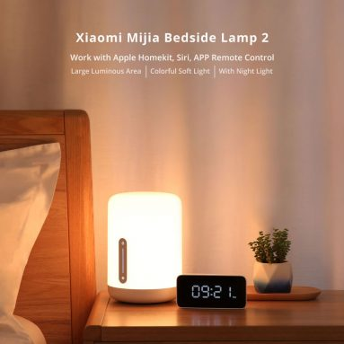 €32 with coupon for Xiaomi Mijia MJCTD02YL Colorful Bedside Light 2 Bluetooth WiFi Touch APP Control Apple HomeKit Siri from BANGGOOD