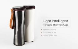$ 29 z kuponem na Xiaomi Mijia Przenośna, inteligentna termiczna butelka na wodę - WHITE firmy GearBest