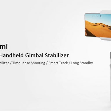 €76 with coupon for Xiaomi Mijia SJYT01FM 3 Axis Handheld Gimbal Stabilizer with 5000mAh Battery for Action Camera Phone from BANGGOOD